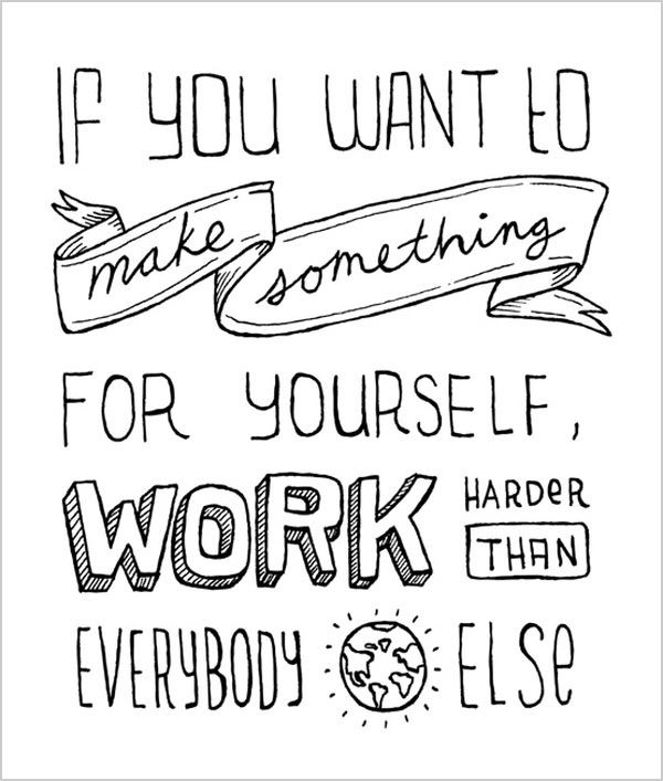 work hard for your dream