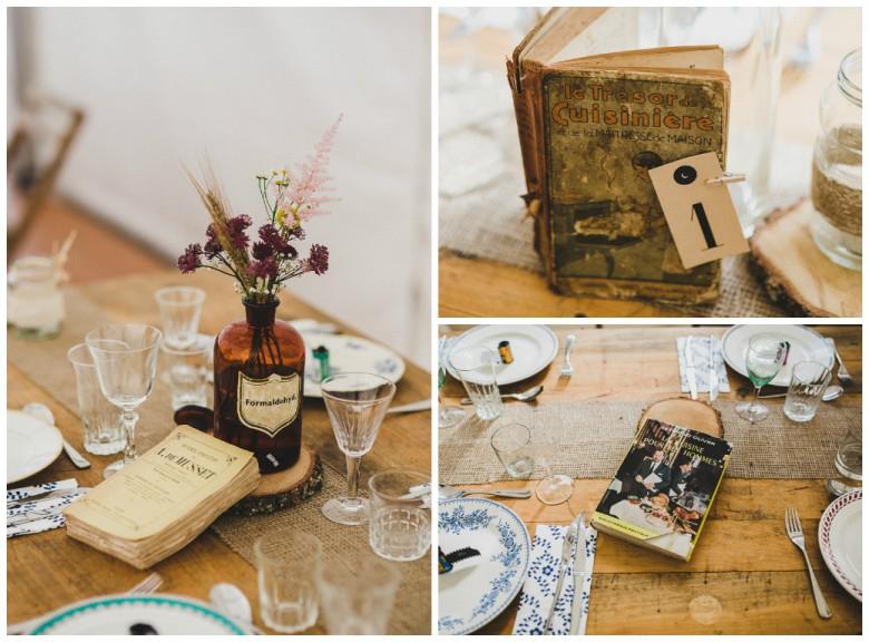 Love & Tralala Mariage champêtre en Dordogne - décoration de tables