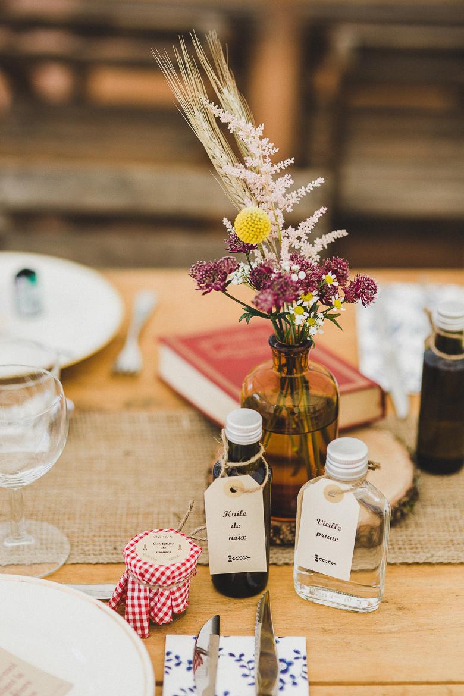Love & Tralala Mariage champêtre en Dordogne - centres de tables et cadeaux d'invités