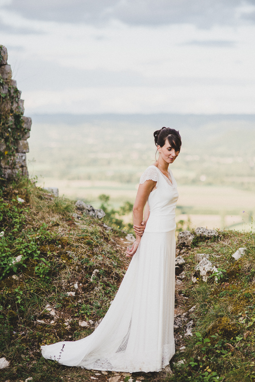 Love & Tralala Mariage champêtre en Dordogne - robe de mariée
