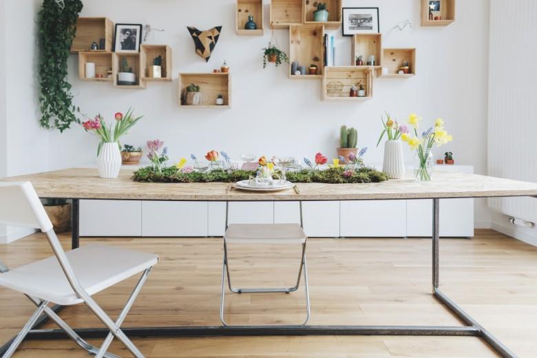 Love & Tralala - Table de printemps 2016 dans le bel appart de la blogueuse Elodie de Love & Tralala