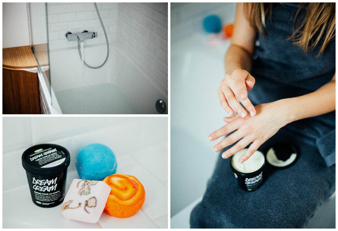 Lovetralala_ma routine matinale, les produits lush pour le bain dans ma salle de bains